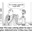 Man was named Healthplan Administrator & Boo-boo Consultant. — Stock Photo #38899693