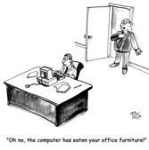 Computer has taken over Jimmy's brain — Stock Photo