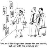 Blindfold doctor — Stock Photo