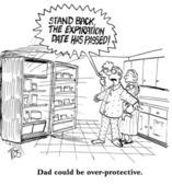 Overprotective Father — Stock Photo