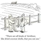 Man is showing farmer all the banned fertilizers. — Foto de Stock