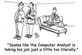 Hombre es acosado por el software en terapia — Foto de Stock