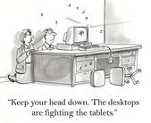 Desktops and tablets — Stock Photo