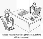 Moses resume — Stock Photo