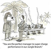 Lion is a manager — Stockfoto