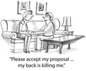 Accept my proposal — Stock Photo