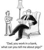 Dad banker — Stock Photo