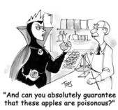 Poisonous apples — 图库照片