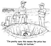 The price has finally hit bottom. — Stock Photo