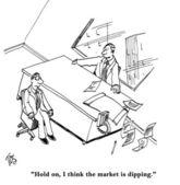 Markt verlagert wieder — Stockfoto