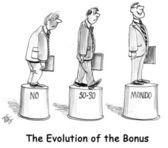 The evolution of the bonus on pedestal — Stock Photo