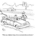 Driver uses excuse for speeding through fax — Stock Photo