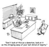 Last shred of dignity job — Stock Photo