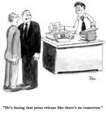 Executive is sending a lot of faxes — Stock Photo