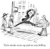 Tech stocks — Stock Photo