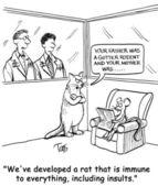 Cat and mouse. Сartoon illustration — Стоковое фото