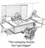 Company shrank — Stock Photo