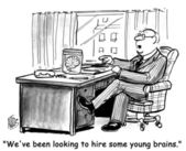 People been looking to hire some young brains. — Stock Photo