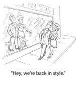 Clothing Styles Change Again — Stock Photo