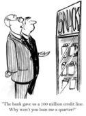 Prezes musi pożyczyć ćwierć — Zdjęcie stockowe