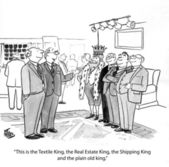 Textile King, the Shipping King, the Real Estate King and the plain ole King. — Stock Photo