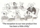 Product reception has been chilly for executives — Stock Photo