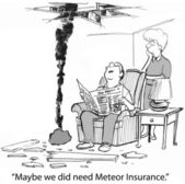 Meteor insurance — Stock Photo