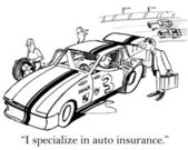 Home and auto insurance for race driver — Stock Photo