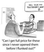 Man selling books — Stock Photo