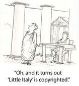 Romans have problem on copyright — Stock Photo