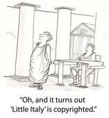 Romans have problem on copyright — Stock Photo