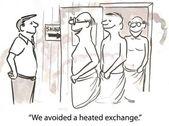 Heated exchange — Stock Photo