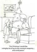Lijst van de wens van kerstmis — Stockfoto