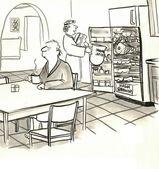 Vrouw is vaststelling van vroege ochtend ontbijt — Stockfoto