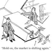 Stock Market Shift — Stock Photo