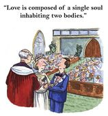 Love is composed of a single soul — Stock Photo
