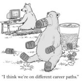 Bears think they are on different career paths — Stock Photo