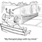 Therapist plays with patient mind. — Stock Photo