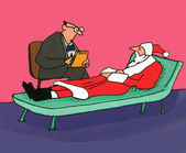 Even Santa Gets Depressed Sometimes — Stock Photo