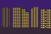 Night city border — Stock Vector