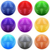 Decoratibe round buttons with scream — Stock vektor