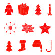 Christmas icons — Stock vektor