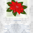 Christmas card with poinsettia — Stock Vector