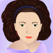 Brunette in lilac — Stock Vector