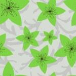 Yeşil çiçekler ile Seamless Modeli — Stok Vektör