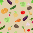 Seamless pattern with vegetables — Stock Vector