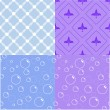 Vettoriale Stock : Set of seamless patterns