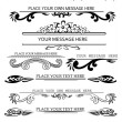 Set of calligraphic design elements 2 — Stock Vector