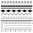 Set of black-and-white borders — Stok Vektör #13644359