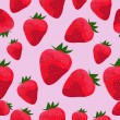 Stock Vector: Seamless pattern with strawberries